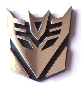 Transformers Decepticon Chrome Emblem 9.5 cm Tall - Prop Replica